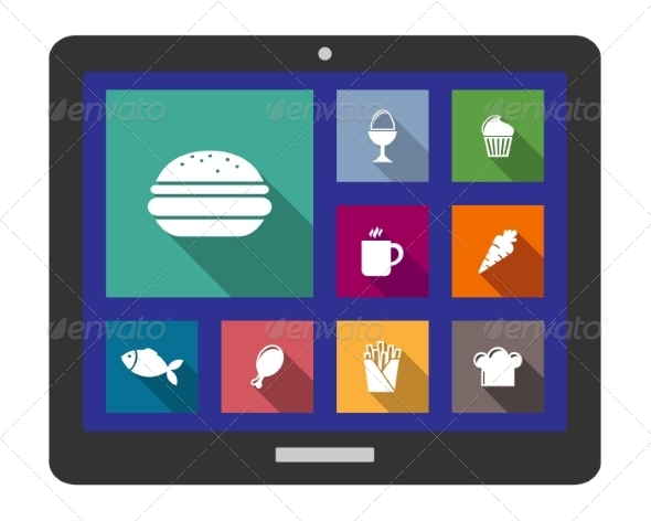 GraphicRiver Set of Flat Cooking and Food Icons