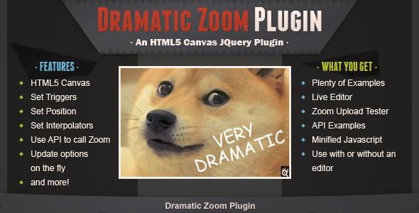 CodeCanyon Dramatic Zoom Plugin 7224070
