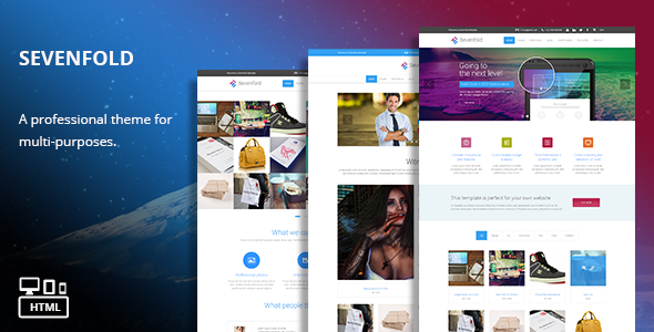 ThemeForest Sevenfold Responsive Multi-Purpose HTML Theme 7433649