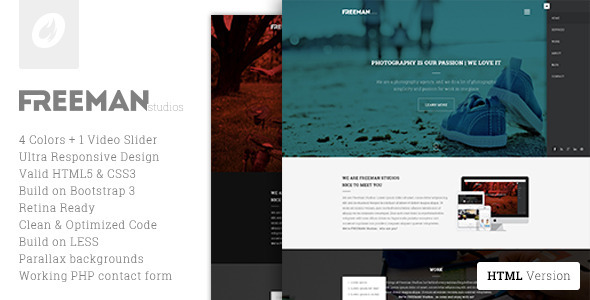 ThemeForest Freeman Multipurpose One Page Template 7433963