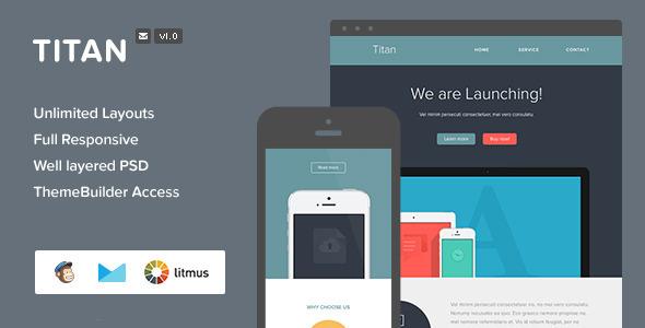 ThemeForest Titan Responsive Email & Themebuilder Access 7434062