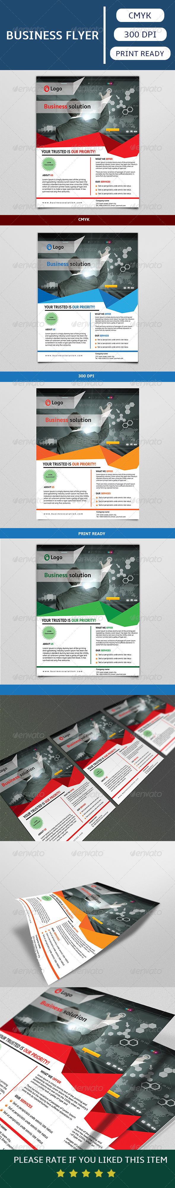 GraphicRiver Corporate Flyer Template 7434445