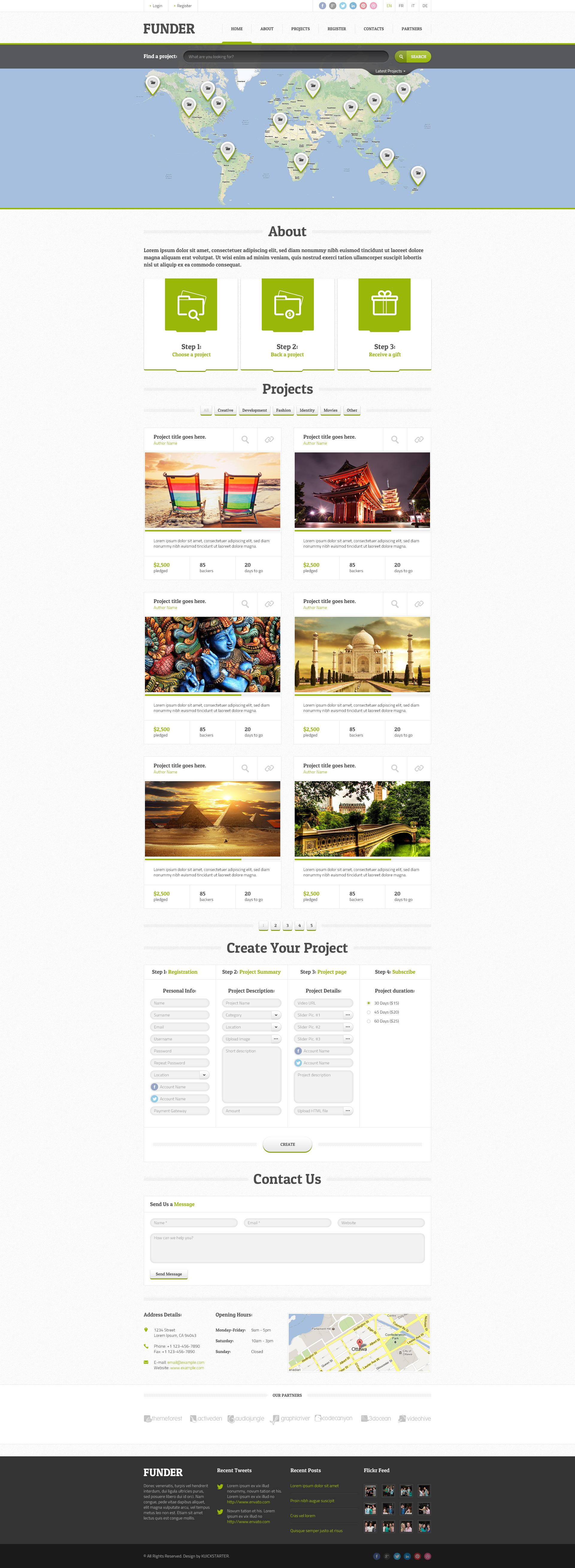 FUNDER - Crowdfunding Wordpress Theme