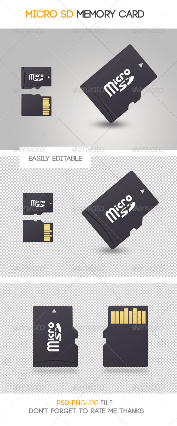 GraphicRiver micro SD memory card 7434467