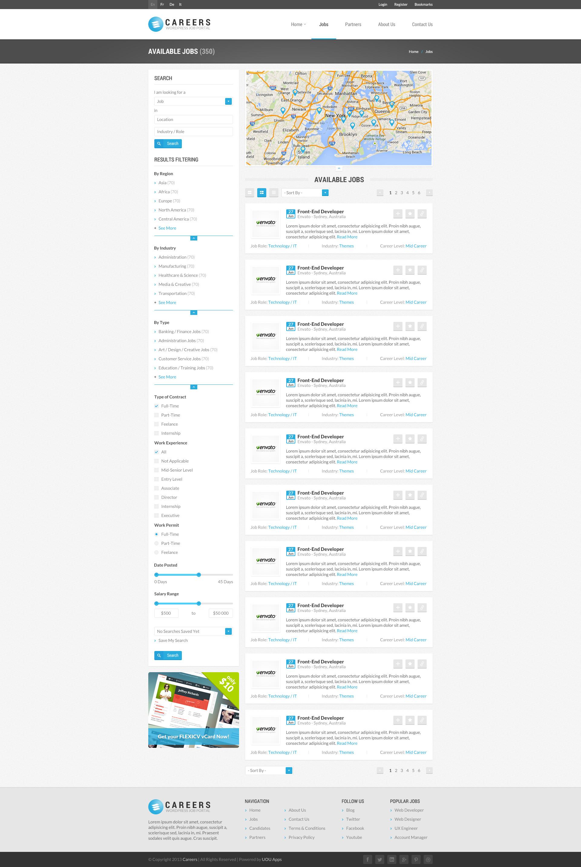 CAREERS - Job Portal & Candidate Database (HTML)