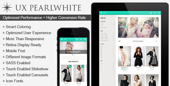 UX Pearlwhite | Fast Responsive Magento Theme - Magento eCommerce