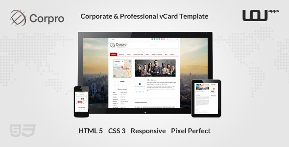 Corpro - Corporate & Professional vCard Template