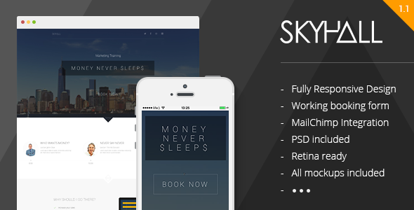 Skyhall - Business Event Landing Page - Business Corporate