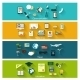 Collection of Modern Concept Icons in Flat Design - GraphicRiver Item for Sale