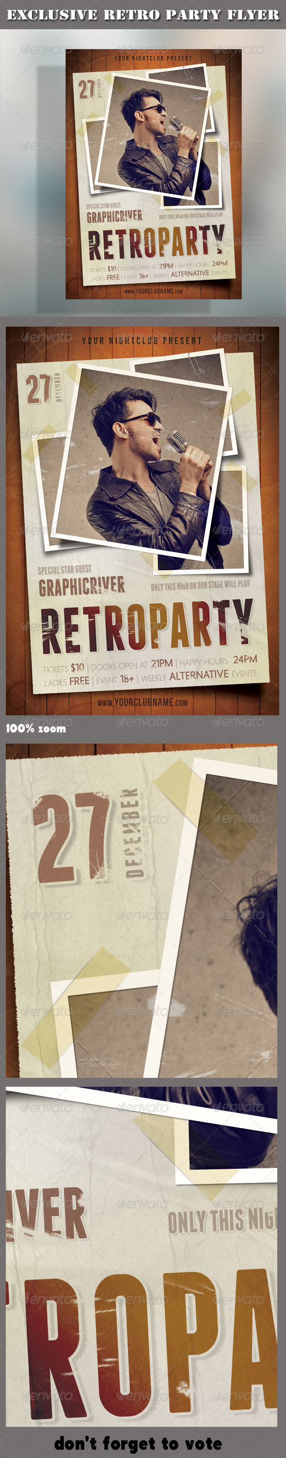 Retro Party Flyer 02 - Clubs & Parties Events
