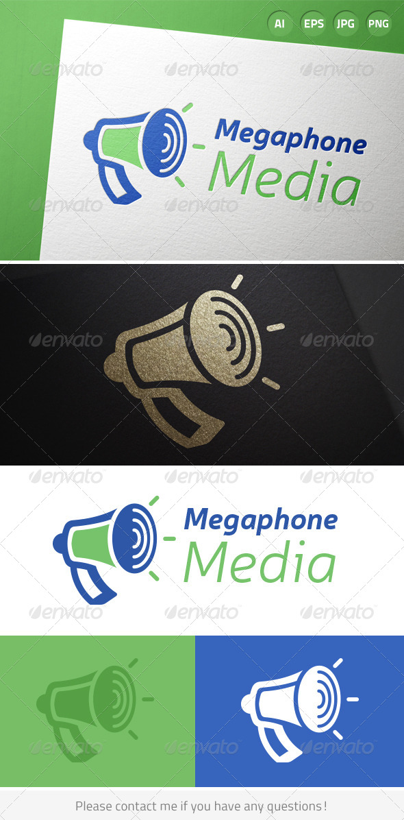 GraphicRiver Megaphone Announcement Media Logo 7436659