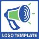 Megaphone Announcement Media Logo - GraphicRiver Item for Sale