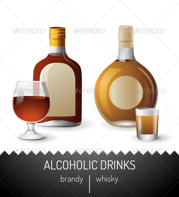 GraphicRiver Alcoholic Drinks 7436726