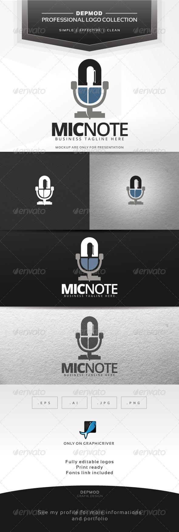 GraphicRiver Mic Note Logo 7437043