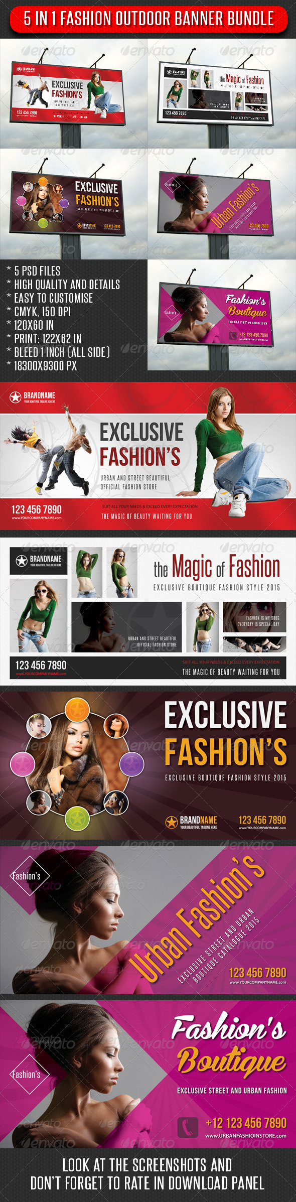 5 in 1 Fashion Outdoor Banner Bundle 04