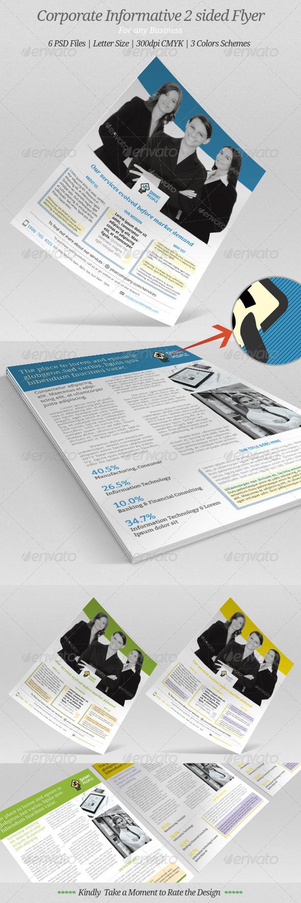 GraphicRiver Corporate Informative Flyer 7437440