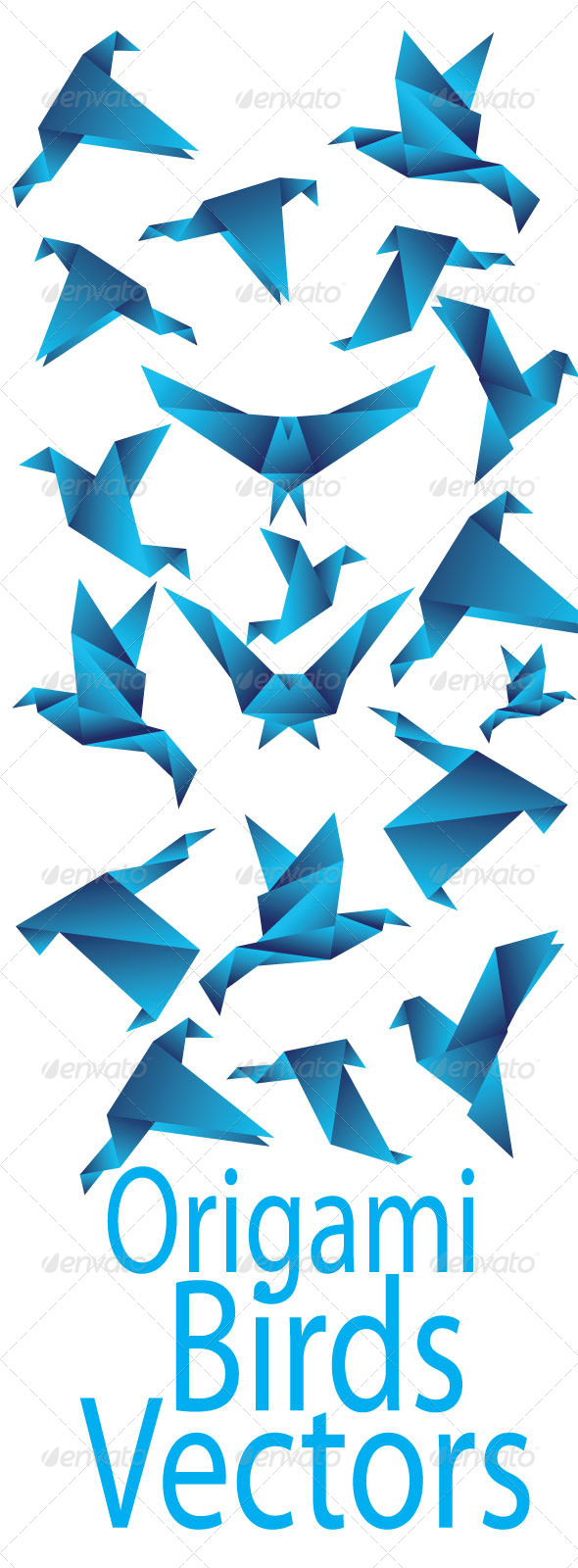GraphicRiver Origami Birds Pack 7437590