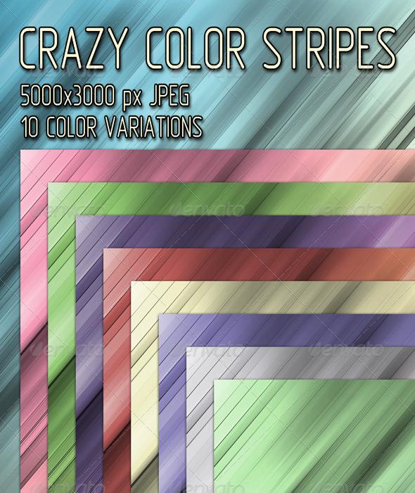 GraphicRiver Crazy Color Stripes 7437612