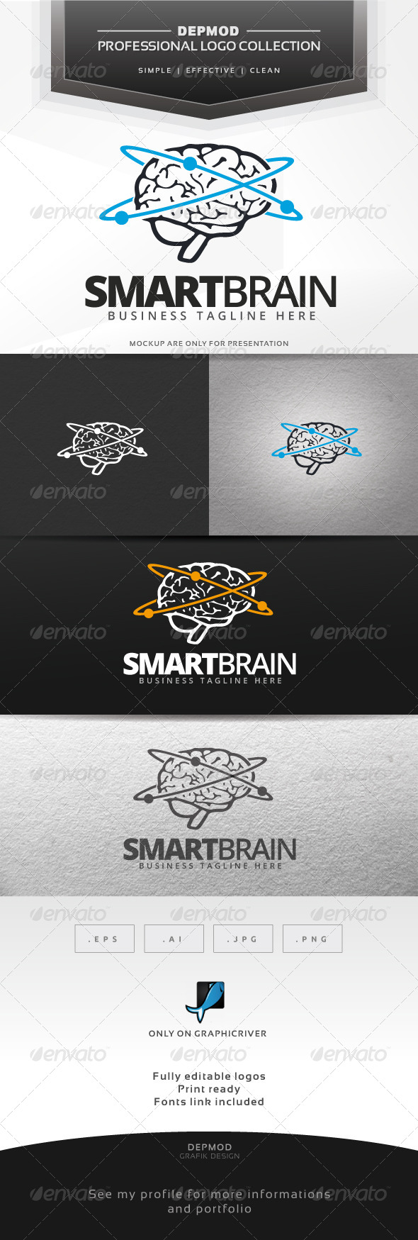 GraphicRiver Smart Brain Logo 7437677