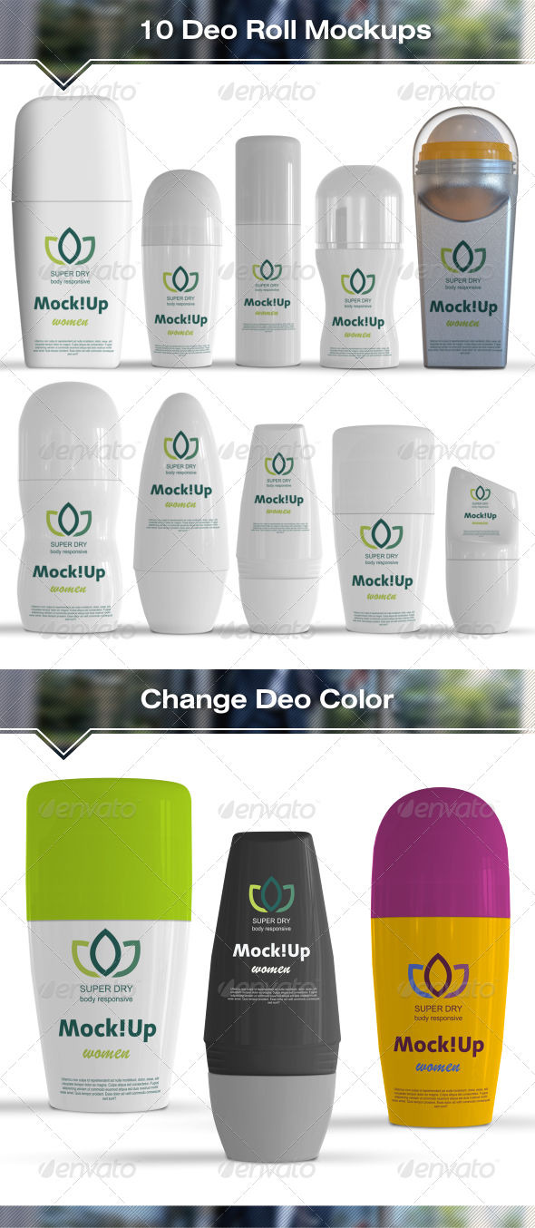 GraphicRiver 10 Roll-On Deodorant Mockups 7437756