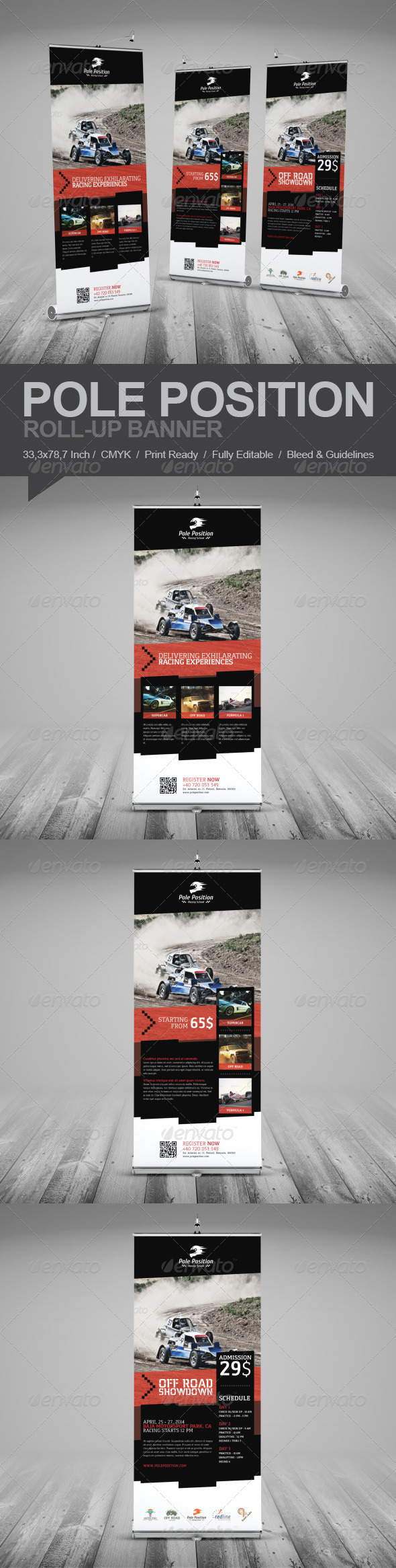 GraphicRiver Racing School Roll-Up Banner 7438020