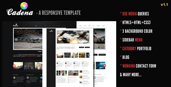 Cadena - A Responsive Creative Template -