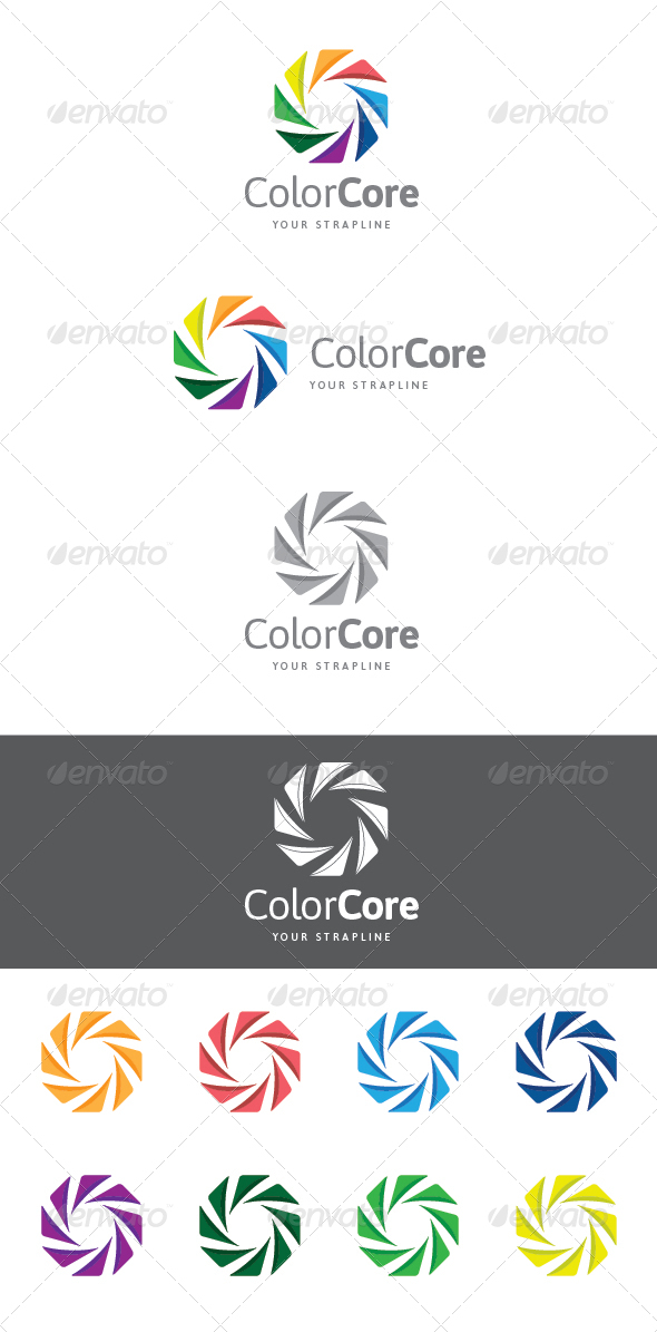GraphicRiver Color Core Logo 7438123