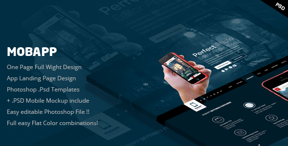 MobApp - One Page App Landing Page - Marketing Corporate