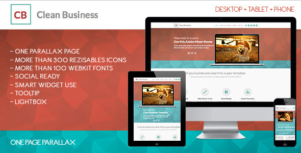 Clean Business One | Adobe Muse Template - Corporate Muse Templates