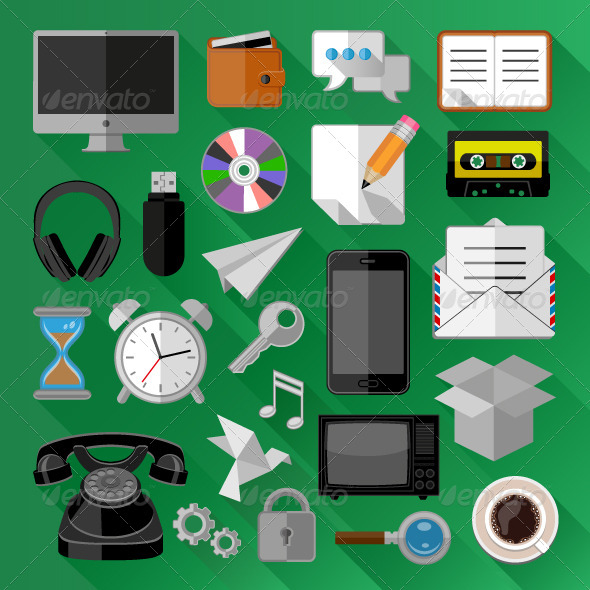 GraphicRiver Business Icons 7438608