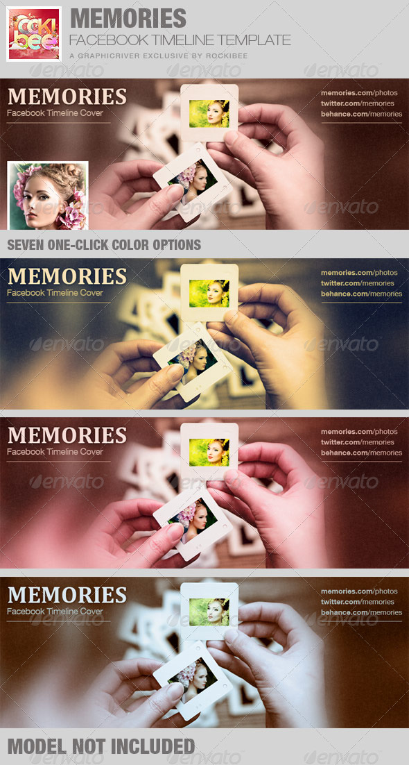 Memories Facebook Timeline Cover Template