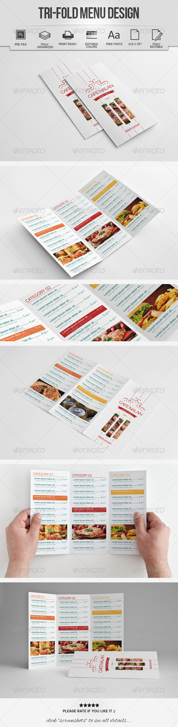 GraphicRiver Trifold Menu Design 7439754