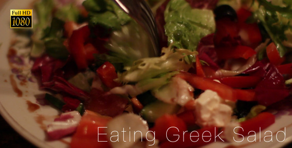 Eating Greek Salad