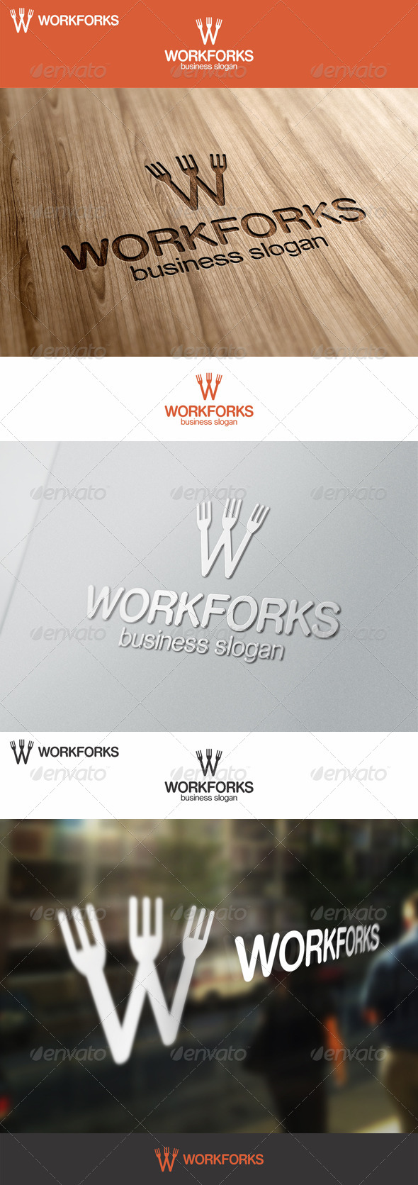 Work Forks Logo - Food Logo Templates