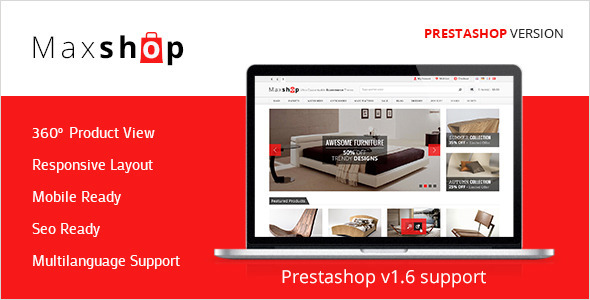 Maxshop Premium Prestashop Shopping Theme