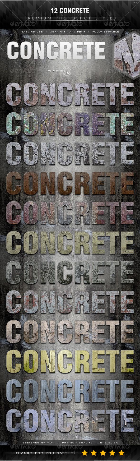 GraphicRiver 12 Concrete Styles Vol.5 7439883