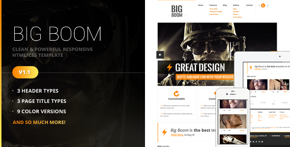 BigBoom - Clean & Powerful HTML/CSS Template
