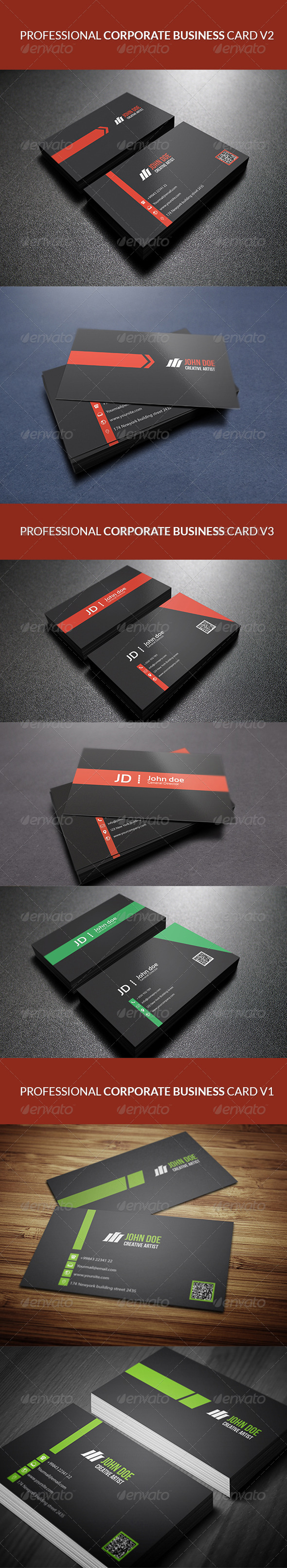 GraphicRiver Professional Corporate Business Card Bundle 1 7440191