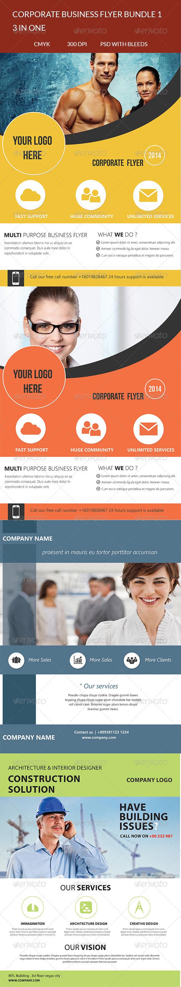 GraphicRiver Corporate Business Flyer Bundle V1 7440281