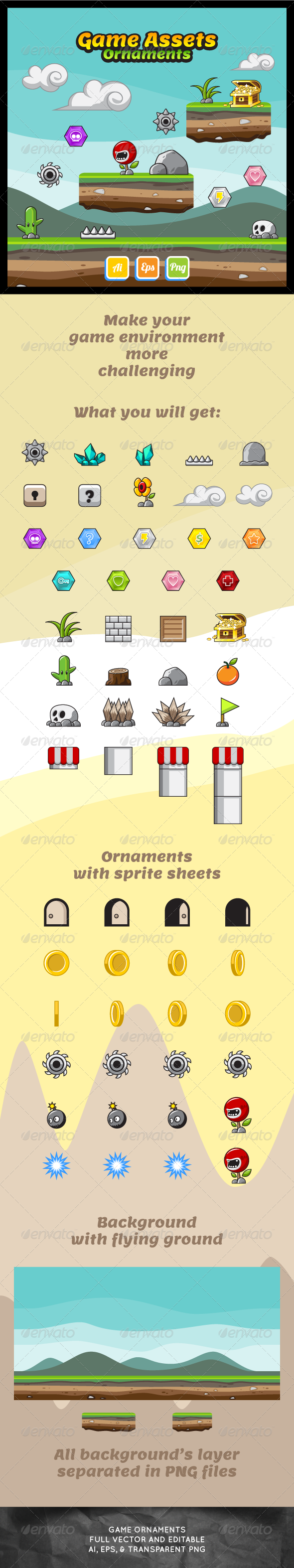 GraphicRiver Game Asset Ornaments 7440284