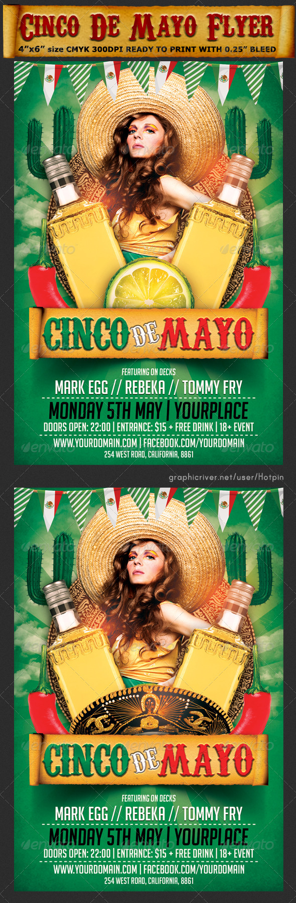 GraphicRiver Cinco De Mayo Flyer Template V2 7440292