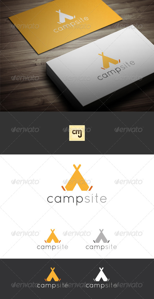 GraphicRiver Camp Site Logo Template 7440295