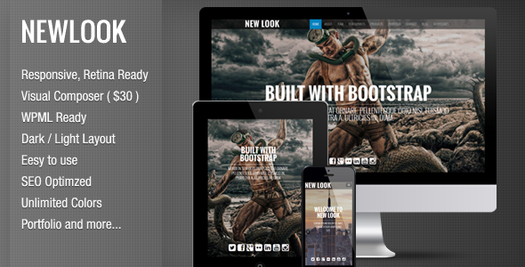New Look - Onepage Responsive Wordpress Theme - Portfolio Creative
