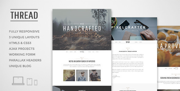 ThemeForest Thread Multi-Purpose One Page Template 7440387