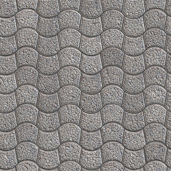 Granular Paving Slabs. Seamless Tileable Texture. - Stock Photo - Images
