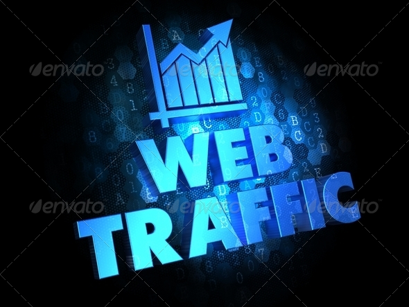 Web Traffic. Growth Concept on Digital Background. - Stock Photo - Images