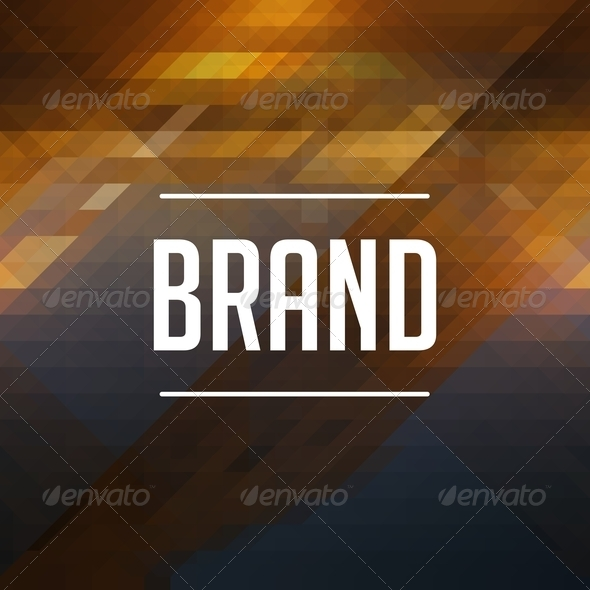 Brand Concept on Retro Triangle Background. - Stock Photo - Images