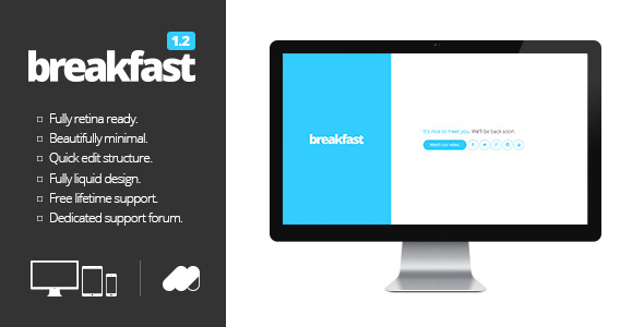 Breakfast | A minimal HTML5 coming soon page.