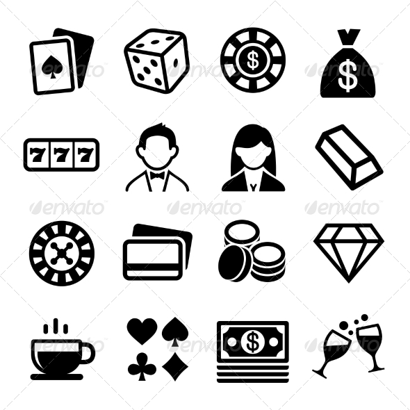 GraphicRiver Gambling and Casino Icons Set Vector 7440964