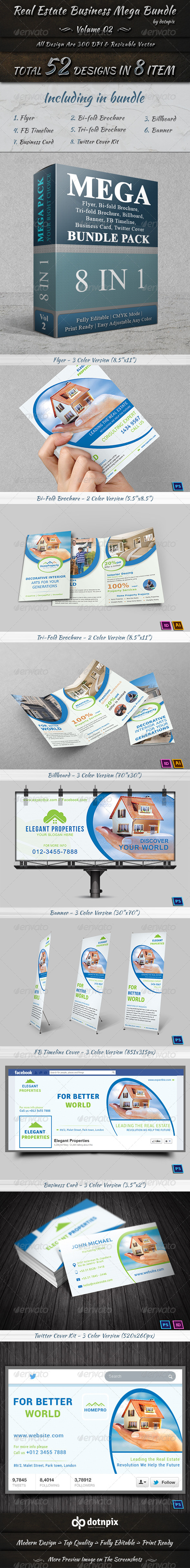 GraphicRiver Real Estate Business Mega Bundle Volume 2 7440966